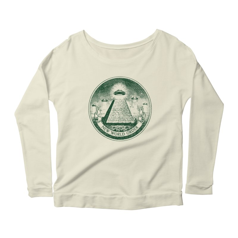 New World Order Women's Longsleeve Scoopneck  by Propaganda Department