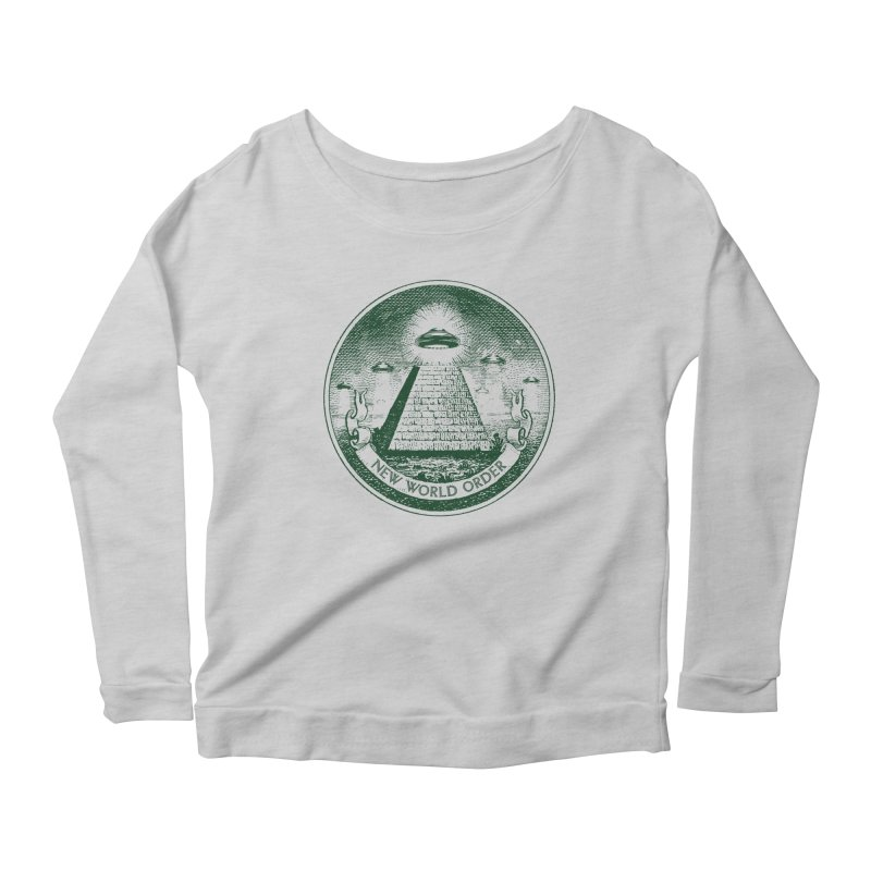 New World Order Women's Scoop Neck Longsleeve T-Shirt by Propaganda Department