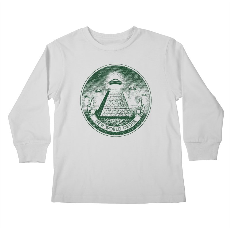 New World Order Kids Longsleeve T-Shirt by Propaganda Department