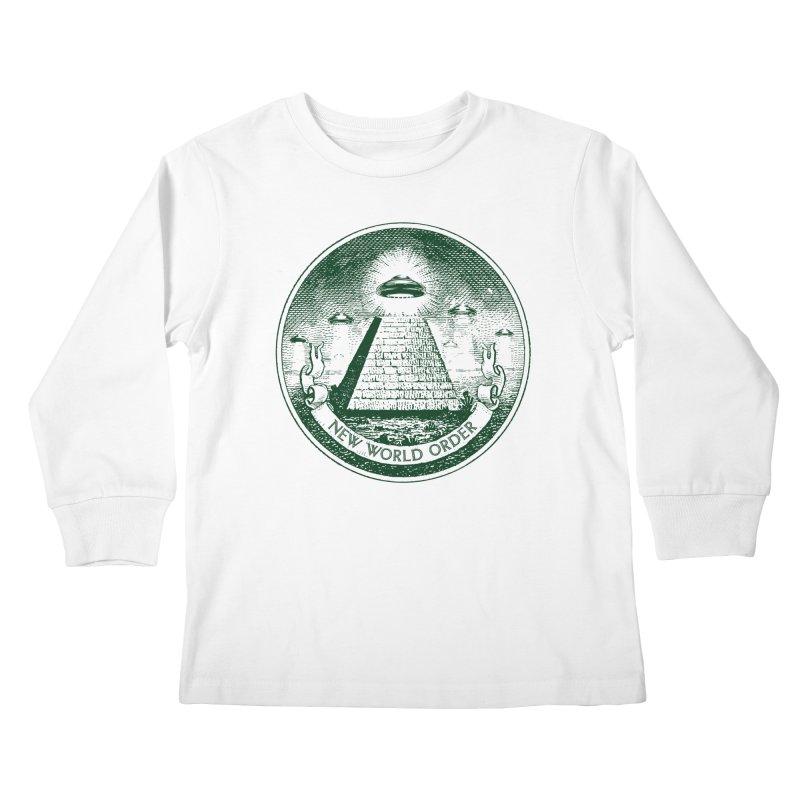 New World Order Kids Longsleeve T-Shirt by Propaganda Department