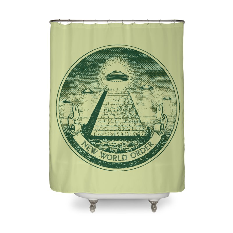 New World Order Home Shower Curtain by Propaganda Department