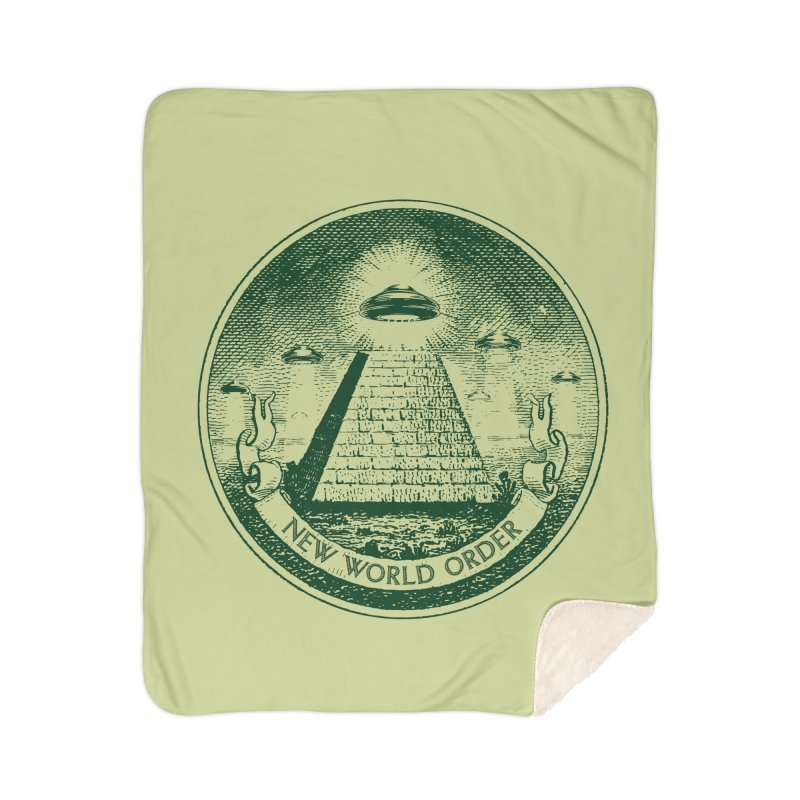 New World Order Home Sherpa Blanket Blanket by Propaganda Department