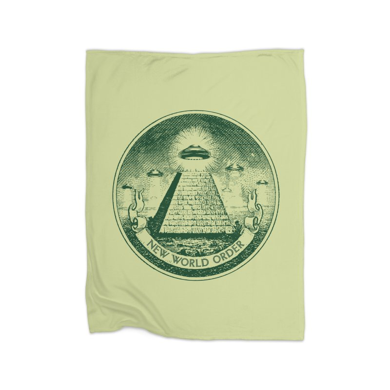 New World Order Home Fleece Blanket Blanket by Propaganda Department