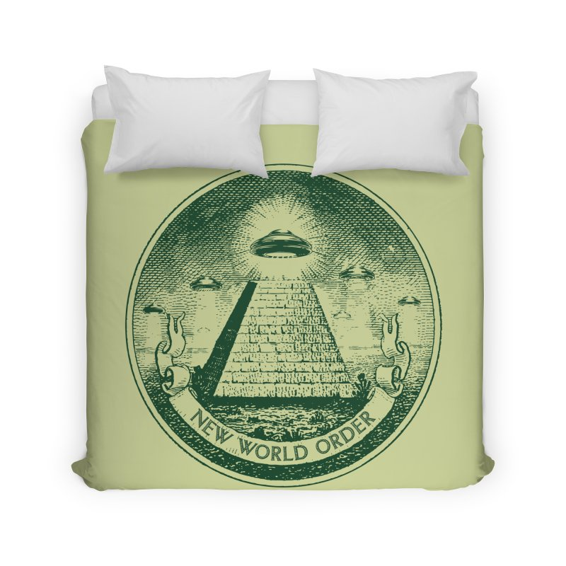 New World Order Home Duvet by Propaganda Department