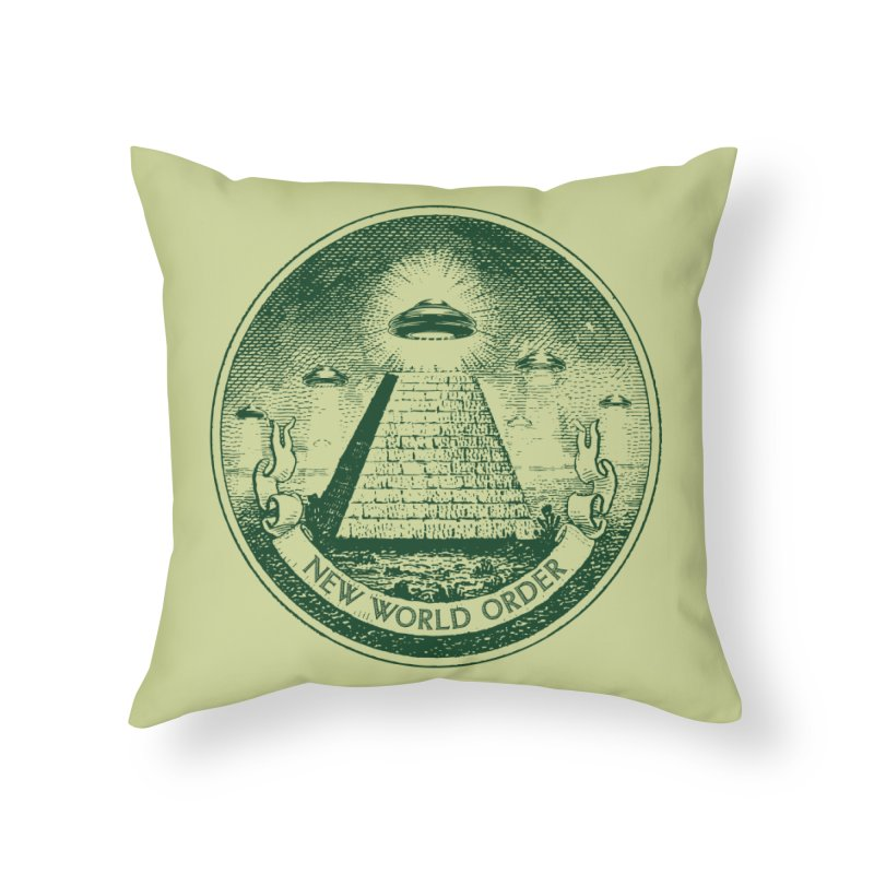 New World Order Home Throw Pillow by Propaganda Department