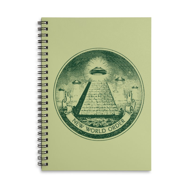 New World Order Accessories Lined Spiral Notebook by Propaganda Department