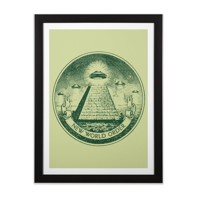 New World Order Home Framed Fine Art Print by Propaganda Department