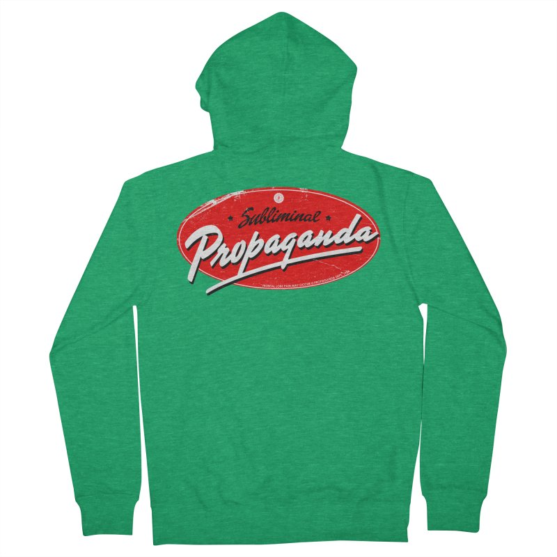 Subliminal Propaganda Men's Zip-Up Hoody by Propaganda Department