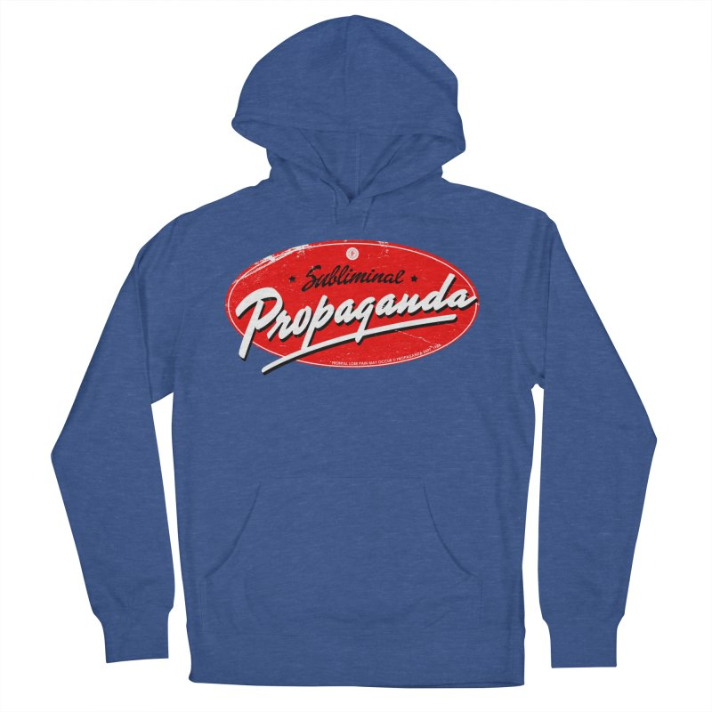 Subliminal Propaganda Women's French Terry Pullover Hoody by Propaganda Department