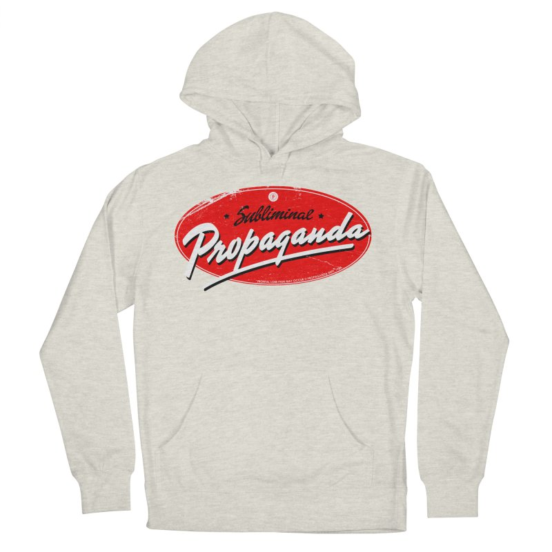 Subliminal Propaganda Men's French Terry Pullover Hoody by Propaganda Department