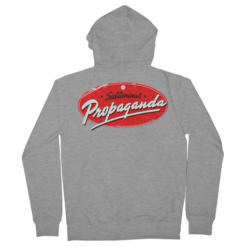 Subliminal Propaganda Men's French Terry Zip-Up Hoody by Propaganda Department