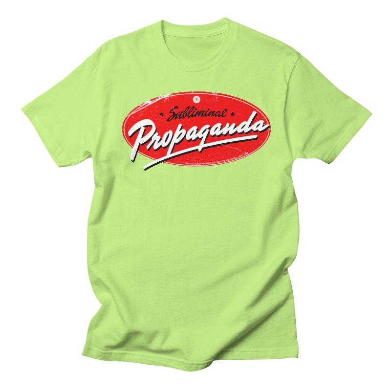 Subliminal Propaganda Men's T-Shirt by Propaganda Department