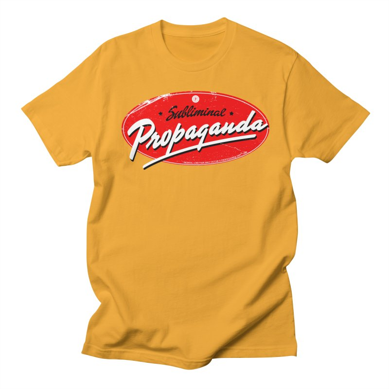 Subliminal Propaganda Men's Regular T-Shirt by Propaganda Department