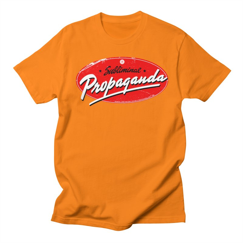 Subliminal Propaganda Men's Regular T-Shirt by Propaganda Department