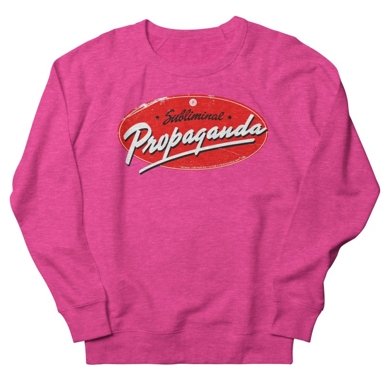 Subliminal Propaganda Men's French Terry Sweatshirt by Propaganda Department