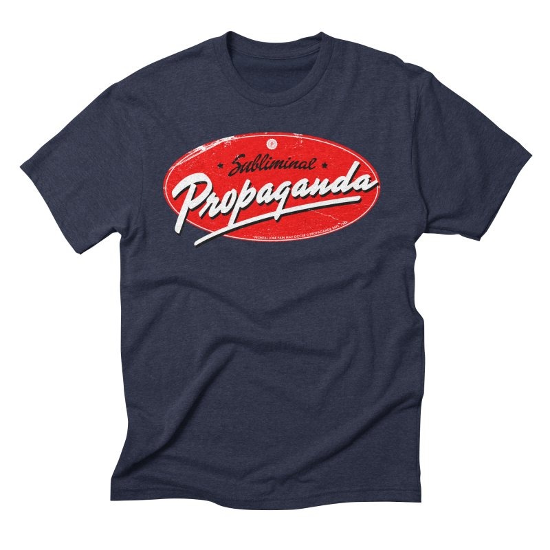 Subliminal Propaganda Men's Triblend T-Shirt by Propaganda Department