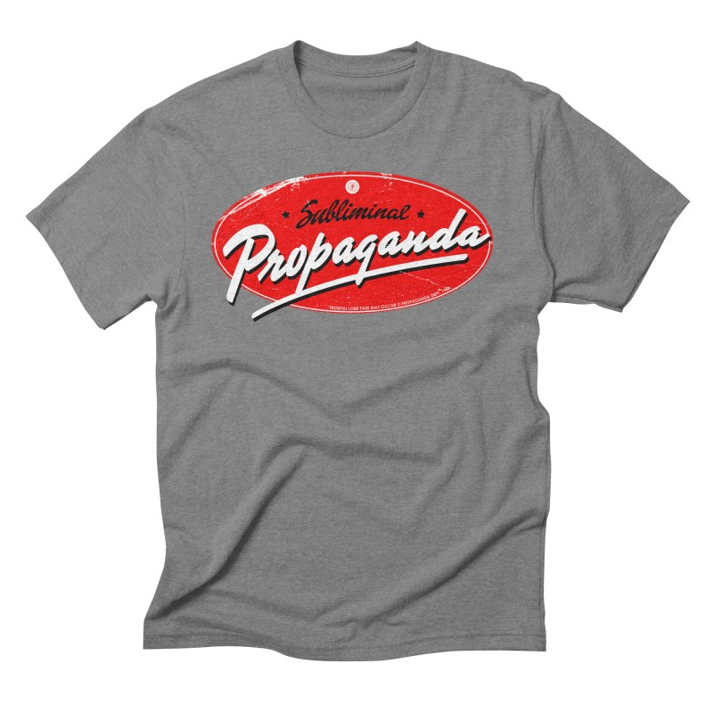 Subliminal Propaganda Men's Triblend T-Shirt by Propaganda Department