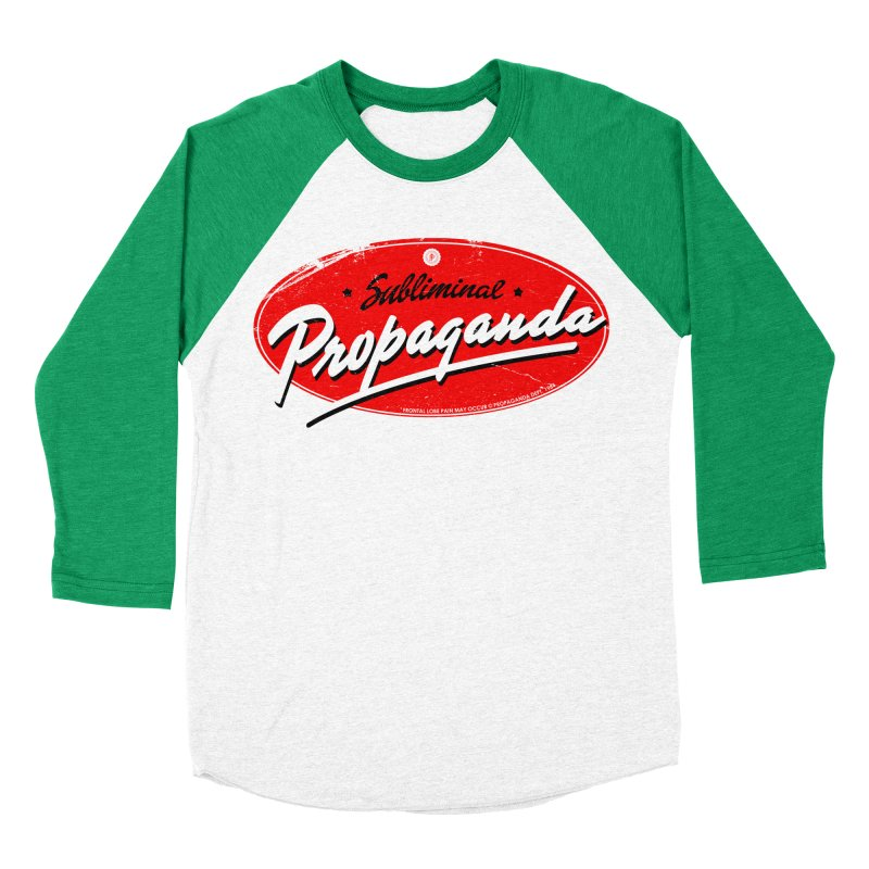 Subliminal Propaganda Women's Baseball Triblend Longsleeve T-Shirt by Propaganda Department