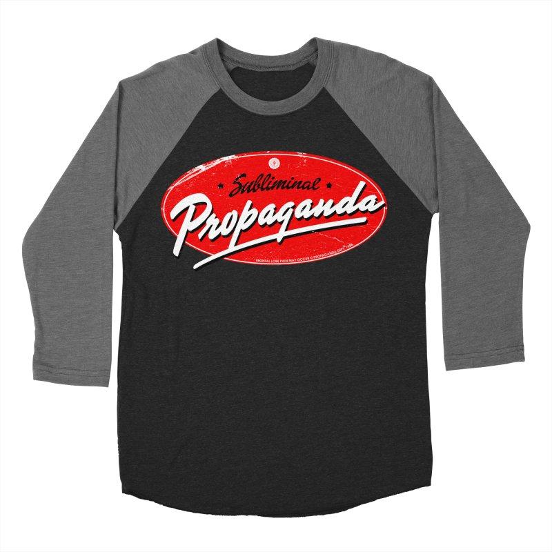 Subliminal Propaganda Women's Baseball Triblend Longsleeve T-Shirt by Propaganda Department