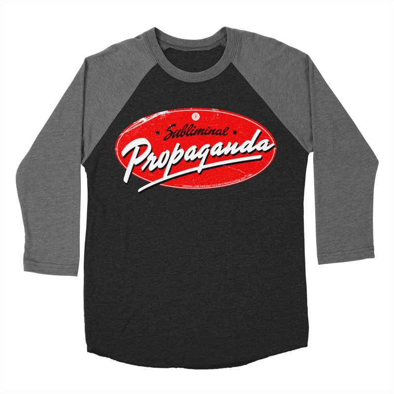Subliminal Propaganda Men's Baseball Triblend Longsleeve T-Shirt by Propaganda Department