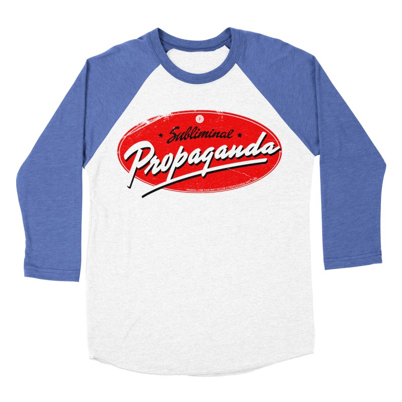 Subliminal Propaganda Men's Baseball Triblend T-Shirt by Propaganda Department