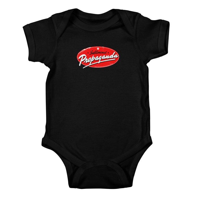 Subliminal Propaganda Kids Baby Bodysuit by Propaganda Department