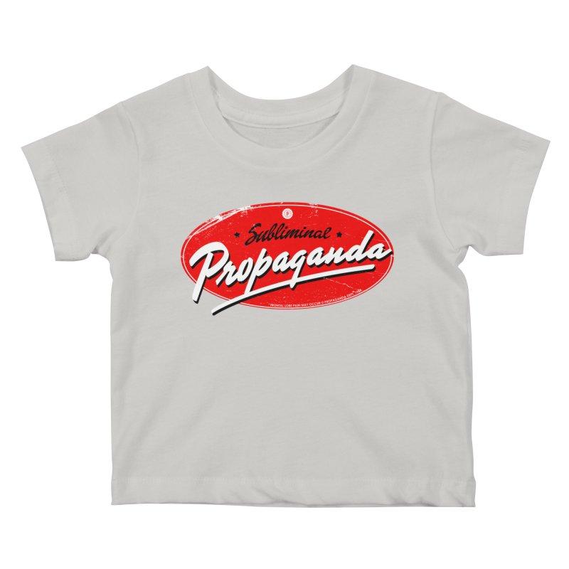 Subliminal Propaganda Kids Baby T-Shirt by Propaganda Department