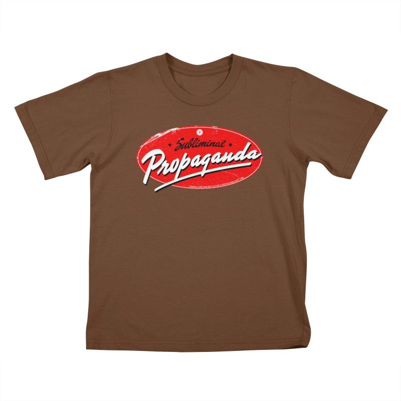Subliminal Propaganda Kids T-Shirt by Propaganda Department