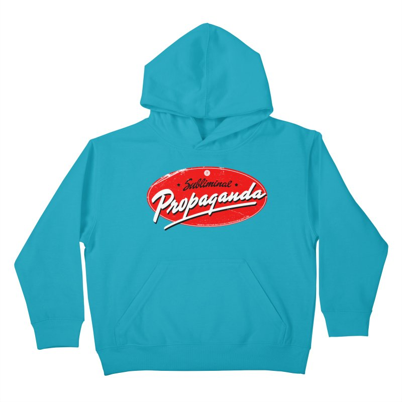 Subliminal Propaganda Kids Pullover Hoody by Propaganda Department