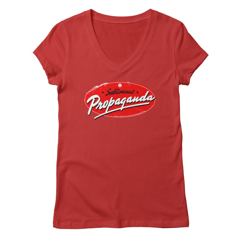 Subliminal Propaganda Women's V-Neck by Propaganda Department