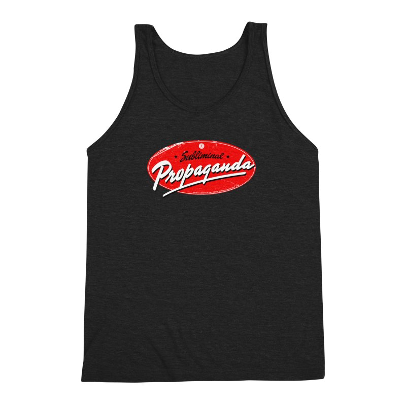 Subliminal Propaganda Men's Triblend Tank by Propaganda Department