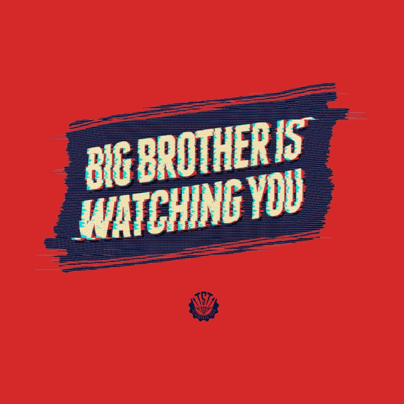 Big Brother is Watching You Women's V-Neck by Propaganda Department