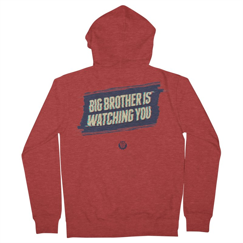 Big Brother is Watching You Men's French Terry Zip-Up Hoody by Propaganda Department