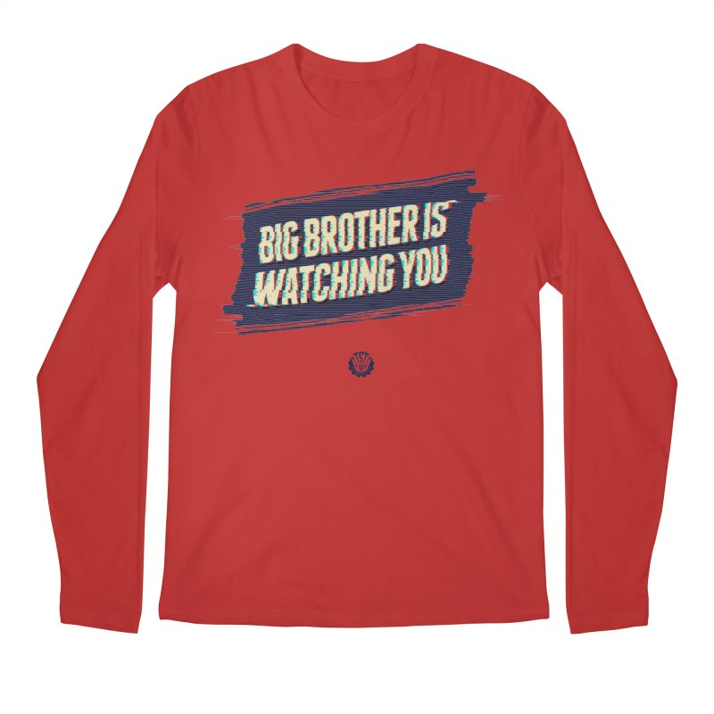 Big Brother is Watching You Men's Regular Longsleeve T-Shirt by Propaganda Department