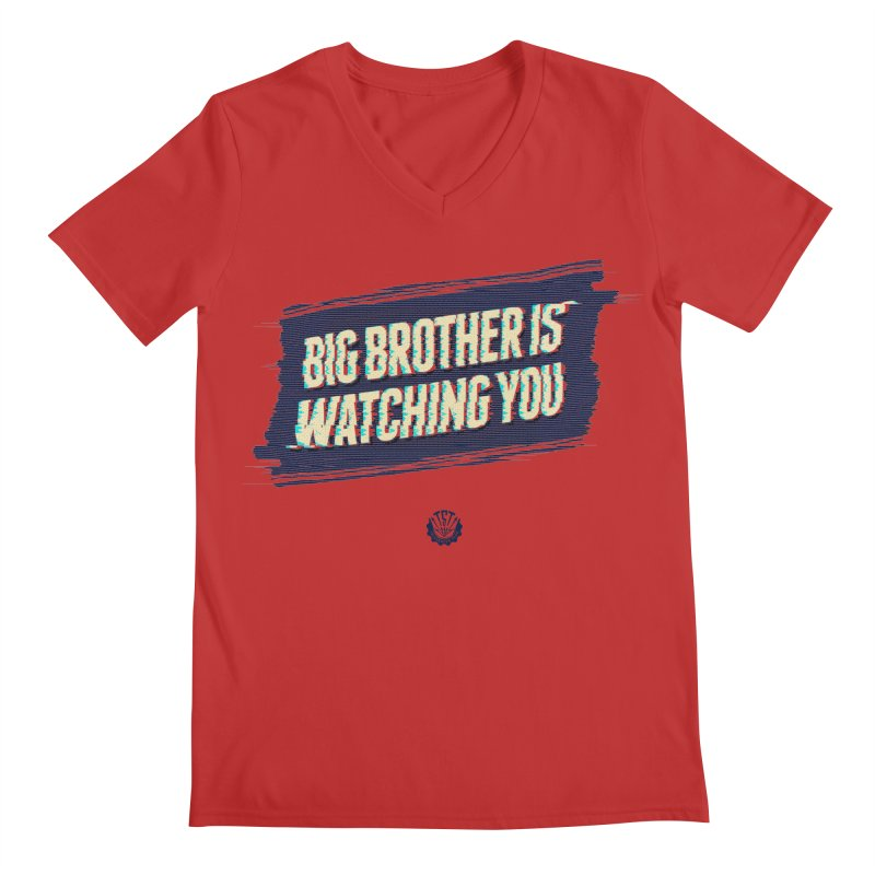 Big Brother is Watching You Men's V-Neck by Propaganda Department