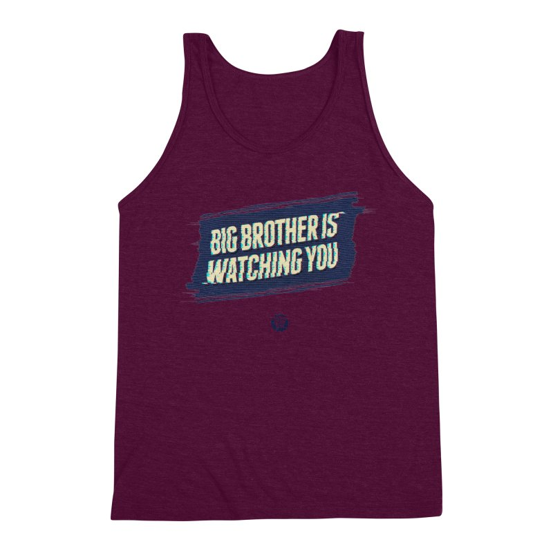 Big Brother is Watching You Men's Triblend Tank by Propaganda Department