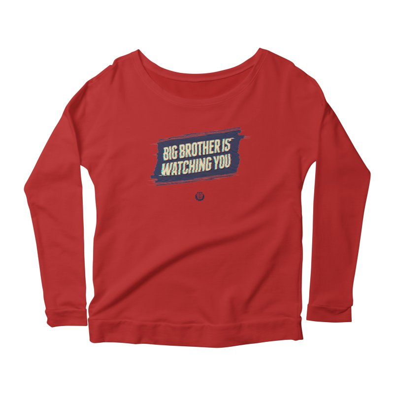 Big Brother is Watching You Women's Longsleeve Scoopneck  by Propaganda Department
