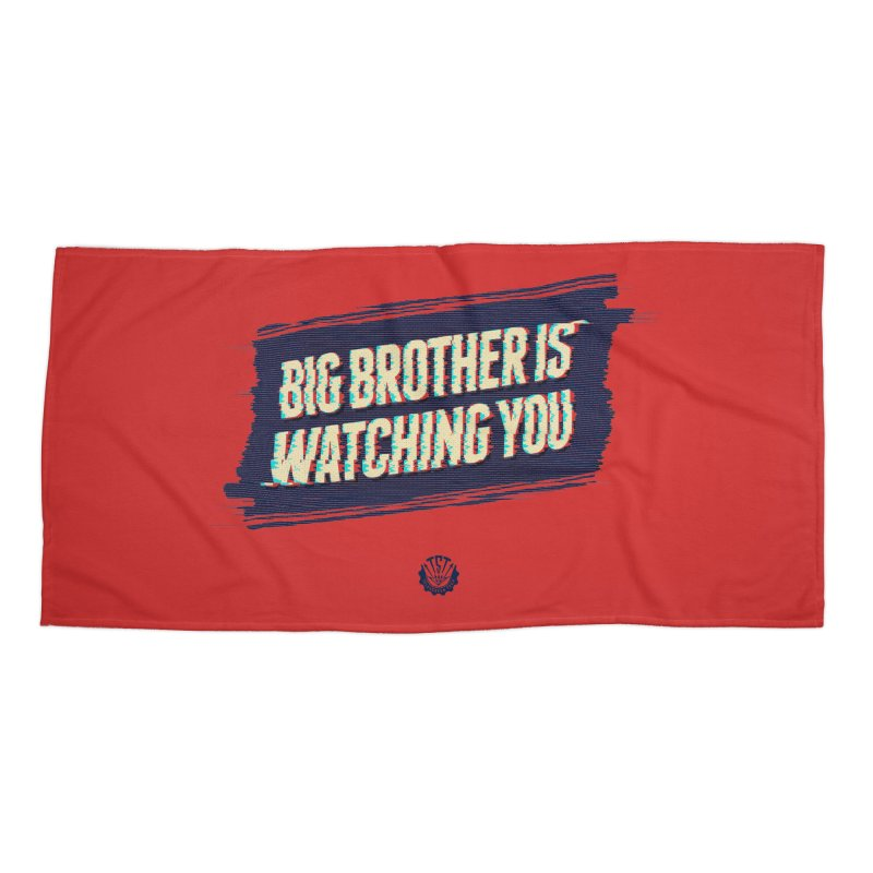 Big Brother is Watching You Accessories Beach Towel by Propaganda Department