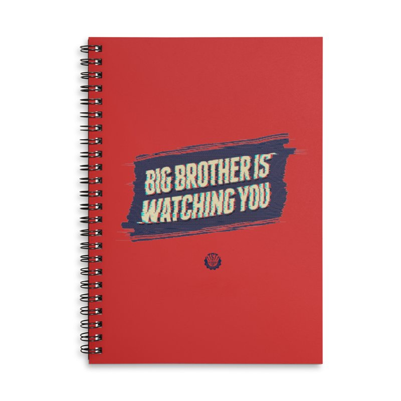 Big Brother is Watching You Accessories Lined Spiral Notebook by Propaganda Department