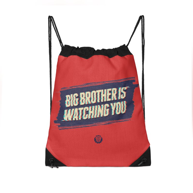 Big Brother is Watching You Accessories Drawstring Bag Bag by Propaganda Department