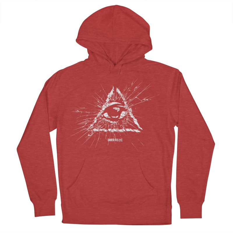 Under his eye Men's French Terry Pullover Hoody by Propaganda Department