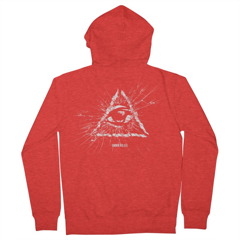 Under his eye Men's Zip-Up Hoody by Propaganda Department