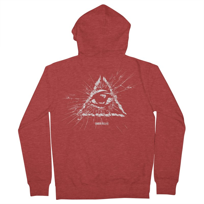 Under his eye Men's French Terry Zip-Up Hoody by Propaganda Department