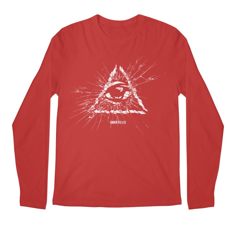 Under his eye Men's Regular Longsleeve T-Shirt by Propaganda Department