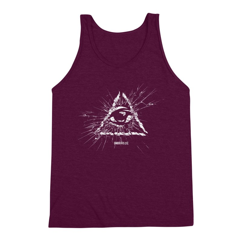 Under his eye Men's Triblend Tank by Propaganda Department