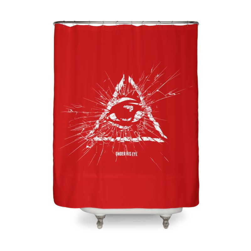 Under his eye Home Shower Curtain by Propaganda Department