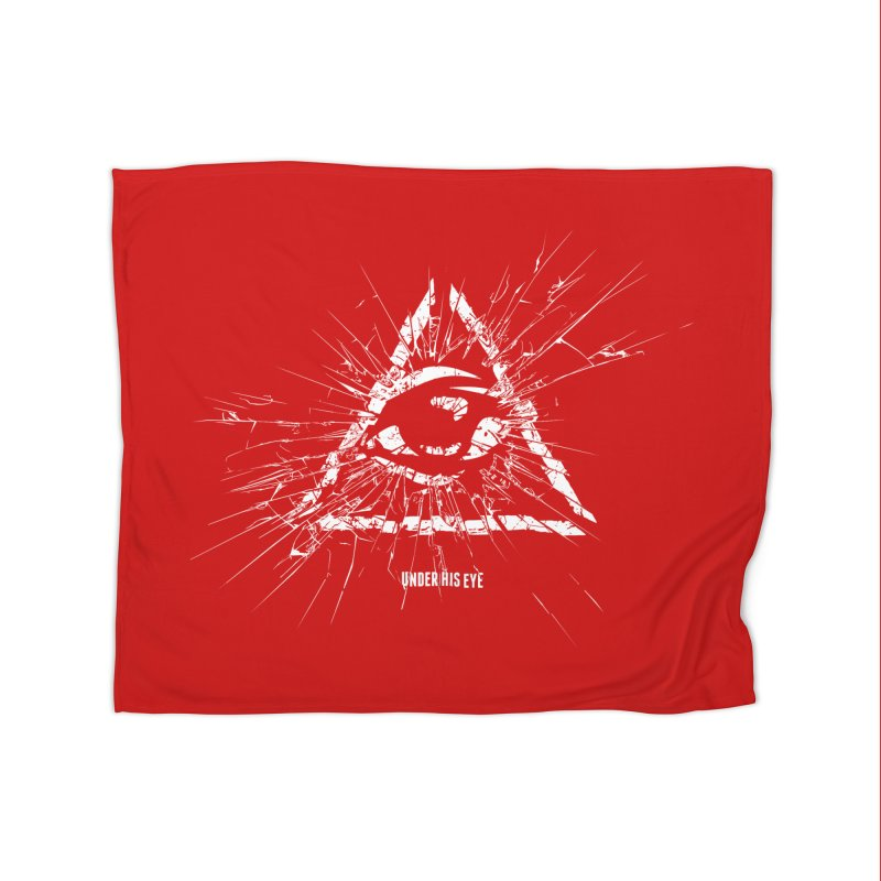 Under his eye Home Fleece Blanket Blanket by Propaganda Department