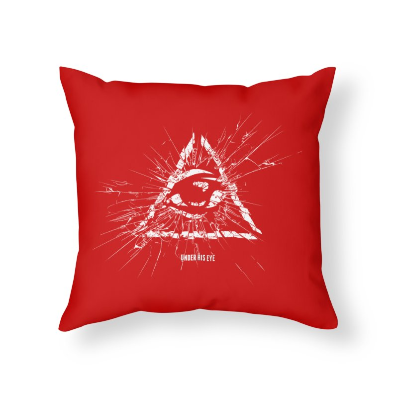 Under his eye Home Throw Pillow by Propaganda Department