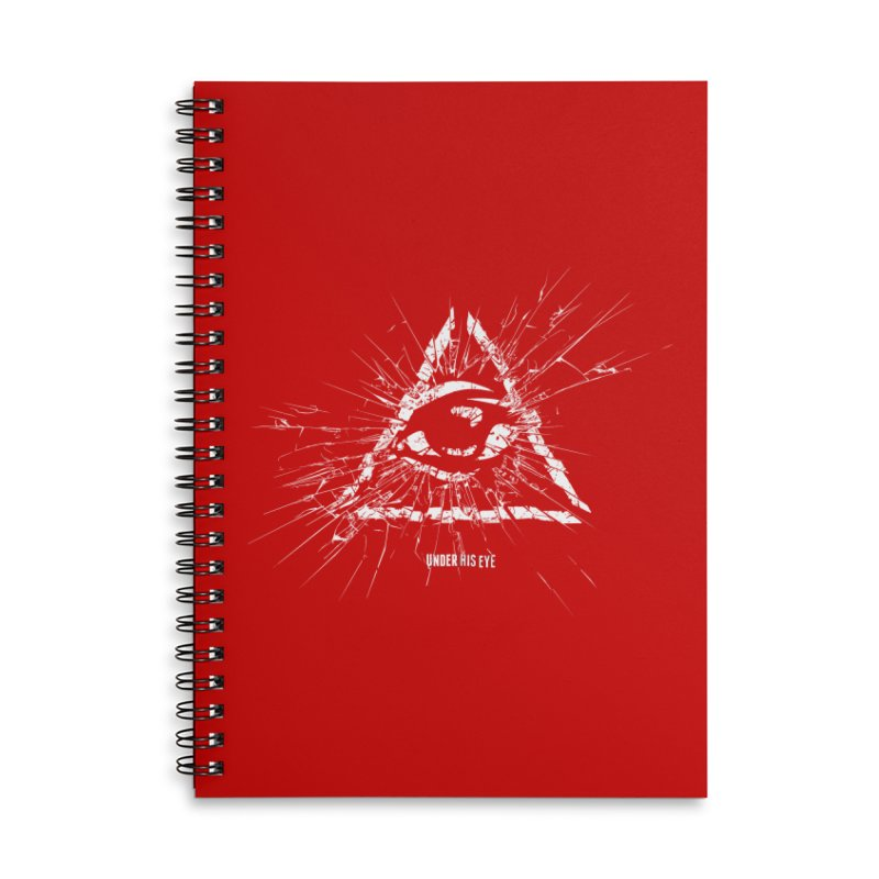 Under his eye Accessories Lined Spiral Notebook by Propaganda Department