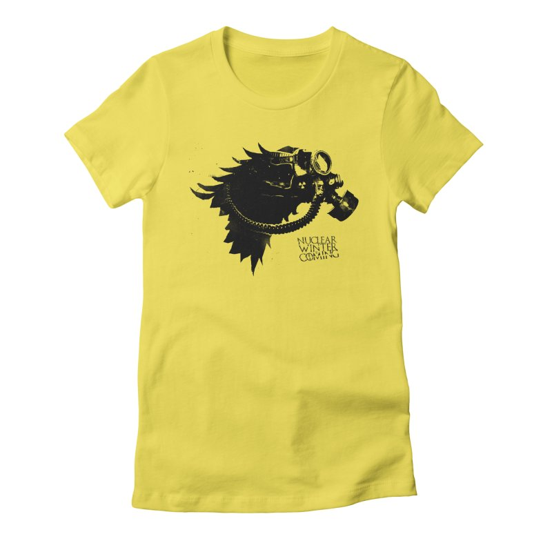 Fallout game of throne Women's Fitted T-Shirt by Propaganda Department